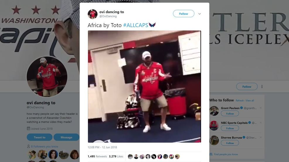 Twitter account 'Ovi Dancing' has Alex Ovechkin busting a