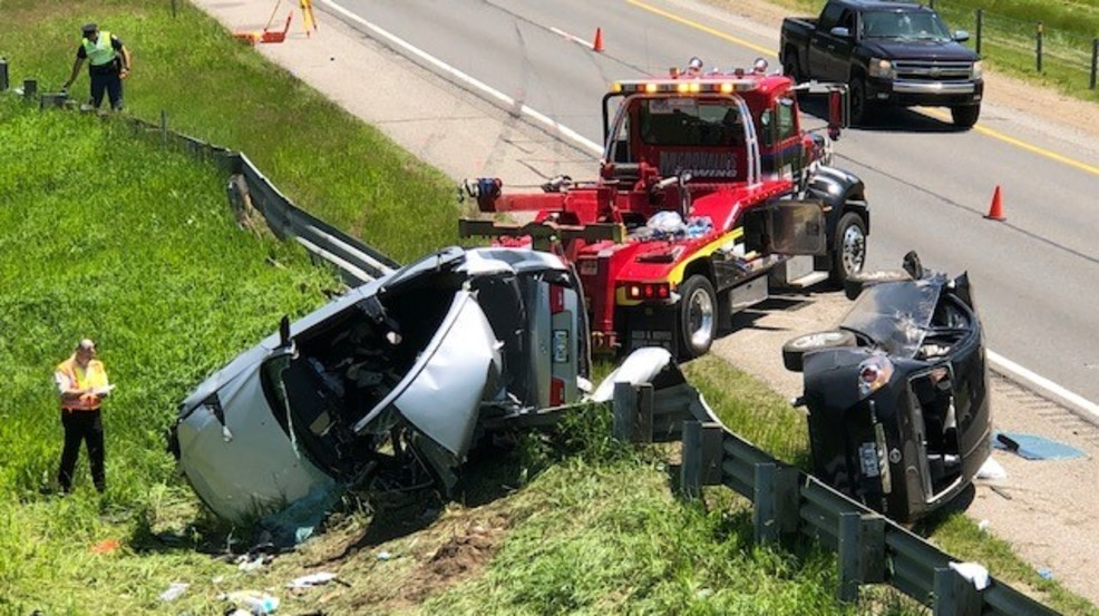 Double rollover crash on I-94 leaves one seriously injured Friday | WWMT