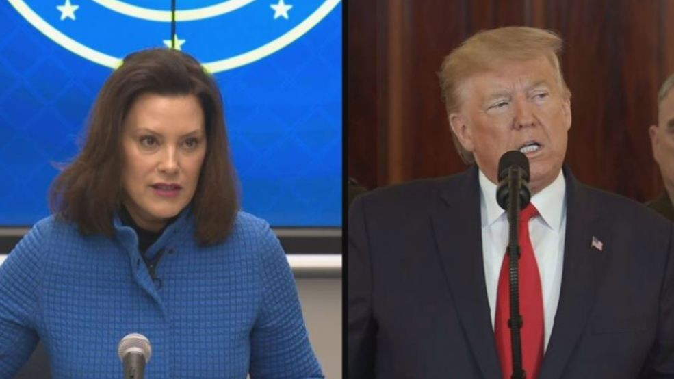 Trump Of Whitmer She Is A New Governor And It S Not Been Pleasant Wwmt